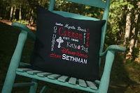 Premium custom keepsake pillow - Black