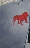 Distressed bulldog t-shirt