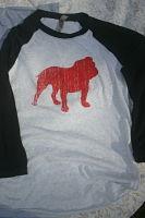 Bulldog 3/4 sleeve raglan