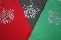 3/4 Sleeve Merry Christmas Raglan