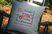 University of South Carolina throw pillow