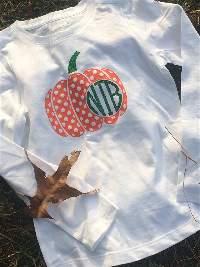 Pumpkin monogram t-shirt